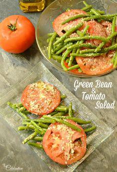 Green Bean & Tomato Salad combines color, texture & little Italian flavor for an easy & fresh summer salad! At littlemisscelebration.com