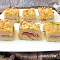 OTROS RELLENOS PARA EL PASTEL DE PAN DE MOLDE GRATINADO Puerros y bacon o jamón serrano: 250 gr de queso rallado grueso – 100 gr de bacón o jamón serrano en taquitos finos – 2 cebolletas (ó 1 puerro).