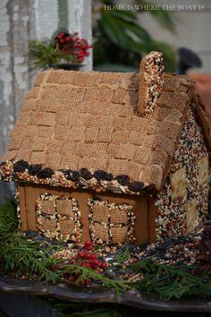 Gingerbread House Bird Feeder