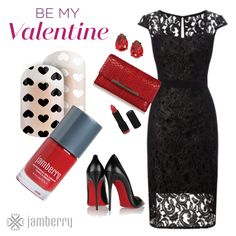 """Clear Jamberry Nail wraps Pop Heart. Wear over Cardinal lacquer for that """"pop"""" with your Valentine's outfit!  https://justmyjamstyle.jamberry.com/us/en/"""