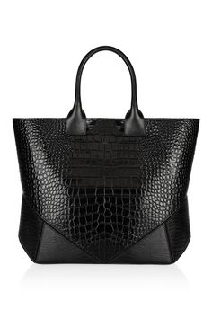 Givenchy | Easy bag in black croc-embossed leather  | NET-A-PORTER.COM