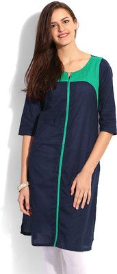 W Solid Women's Straight Kurta