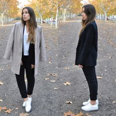 Claudia V. - The pinstripe suit