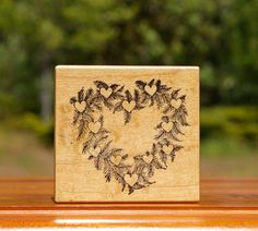 Wreath of Roses Feathers or Pine Wood Mounted Rubber Stamp 1988 by PSX F-366  | eBay