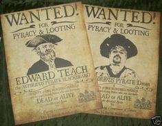 Custom Replica Pirate Wanted Poster with your by lettersofmarqueuk, £16.00