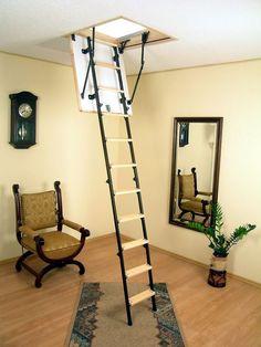 Чердачная лестница с люком - модный помощник в доме http://happymodern.ru/cherdachnaya-lestnica-s-lyukom-modnyj-pomoshhnik-v-dome/ Интересная комбинированная лестница