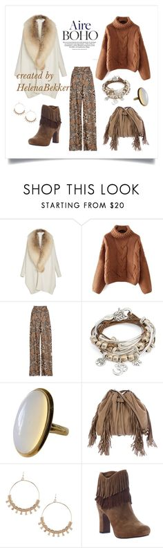 """#177 Boho Style"" by helena-bekker ❤ liked on Polyvore featuring Sally Lapointe, Alena Akhmadullina, Lizzy James, Diane Von Furstenberg and Poetic Licence"