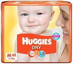 Huggies New Dry Diapers Medium (62 Count) - Baby Diapering