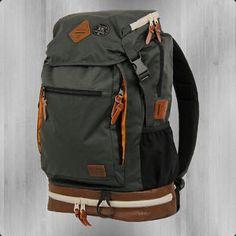 Billabong Alpine Backpack Rucksack grau braun mit Laptop Fach Notebokk Abteil