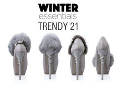 """""""Winter Essentials-Furry Pumps"""" by trendy21com on Polyvore"""