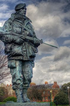 Royal Marine Statue outside the Marines Museum Portsmouth