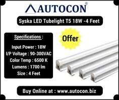 Buy Syska 18 Watt T5 LED Tube light upto 60% discount at our Online Purchase & Business Portal...
