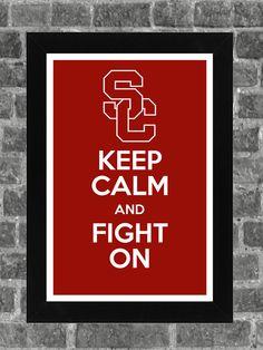 Keep Calm USC Trojans NCAA Print Art 11x17. $14.99, via Etsy. <-- WANT