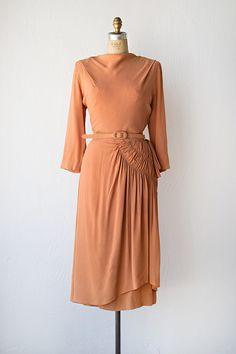 vintage 1940s dress   Beau Monde Dress