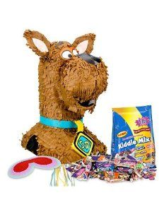 Scooby Doo Pinata Kit by COSTUME SUPERCENTER. $27.29. Tell kids that this pinata is filled with Scooby snacks and watch the smiles spread across their faces! The Scooby Doo Pinata Kit includes a pinata, blindfold, and 3 lb bag of filler. This great party accessory features a brown pinata shaped like Scooby's head with a set of pointed ears, an extended muzzle, and an eye-catching bright blue collar with a name tag that reads SD. The dog's face looks just like Sc...