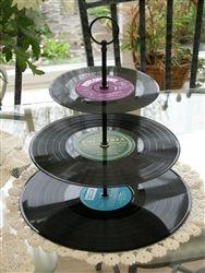 Vinyl Cupcake Stand Black Fittings 3 Tier