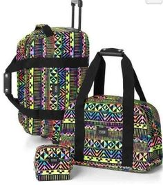1bb3df69c0 Victoria s secret pink 3 pc travel set neon aztec duffle bag - new!!! sold  out