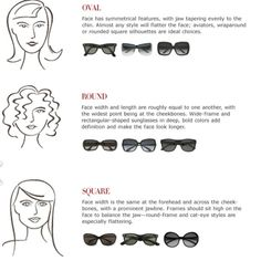 Face shapes and sunglasses This is a chart that helps you determine which sunglass frame will fit your face the best. I hope this Guide helps all PoshMark ladies in you're online purchases. These charts are meant to help your shopping experience run smooth and happy. Coach Accessories Sunglasses