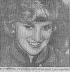 January 23, 1982: Princess Diana meeting the crowds at the Dick Sheppard School in Tulse Hill, Brixton.