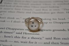 Harry Potter book corner stars ring :)
