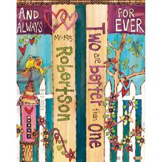 """Custom 20"""""""" Marriage Mini Art Garden Poles make a perfect wedding gift to commemorate the special occasion! ~ Suitable for indoor or outdoor use~ Great for container pots~ Laminated for fade resista"""