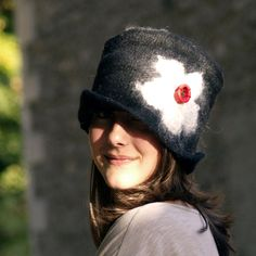 felt and cotton hat nuno felting handmade in france by jannio, $86.00