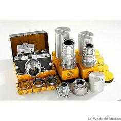 "Kodak Eastman, Ektra Outfit, 1941-1948. 35mm rangefinder camera. Rare. NB: there is also a line of Pocket slim cameras named ""Ektra""."
