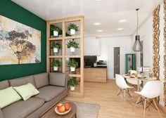 интерьер кухни-гостиной в эко-стиле