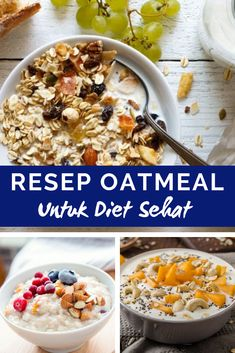 Variasi Resep dan Menu Oatmeal Untuk Diet - New Ideas Berry Smoothie Recipe, Easy Smoothie Recipes, Easy Smoothies, Oatmeal Recipes, Snack Recipes, The Oatmeal, Oatmeal Diet, Easy To Digest Foods, Homemade Frappuccino