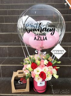 Please do not hesitate to whatsapp me if you require further information Surprise Delivery Penang Kedah Kl Whatsapp No : Diy Birthday Decorations, Balloon Decorations, Flower Decorations, Balloon Flowers, Balloon Bouquet, Flower Bouqet, Floral Bouquets, Diy Bouquet, Bouquet Wrap