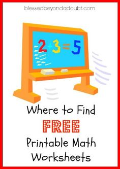 Free math worksheets for kids! You will want to bookmark and pin for future!