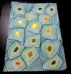 Quelques gommettes de formes originales, des feutres pour les entourer, et hop ! voilà une jolie couverture de cahier ...  ... Projects For Kids, Art Projects, Creation Art, Ecole Art, Painted Paper, Art Plastique, Diy Paper, Tour, Art Lessons