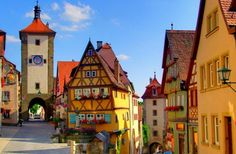 Rothenburg ob der Tauber, Bavaria.