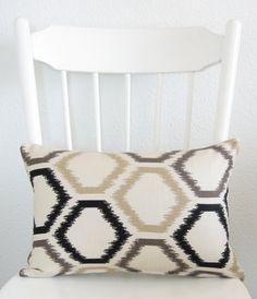 Decorative pillow cover  Lumbar pillow  Ikat by chicdecorpillows, $20.00