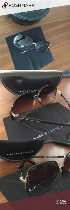 Marc by Marc Jacobs Sunglasses marc by marc jacobs black sunglasses with case and dust cloth. always kept in case when not in use. no scratches. Marc By Marc Jacobs Accessories Sunglasses