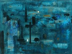 Halifax by John Piper (memories of snow & piece hall, plummet line & embassy regal, old cars & Dave Baxter. John Piper, Artist Painting, Painting & Drawing, Modern Artists, Art Uk, Your Paintings, Urban Art, New Art, Oil On Canvas