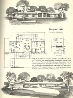 Vintage House Plans 1960s: Mid Century Modern Homes | Antique Alter Ego