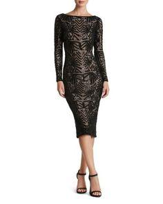 Dress the Population Emery Sequin V-Back Dress | Bloomingdale's