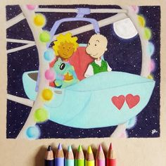 90s cartoons were the best. Doug Funnie and Patti Mayonnaise  Drawn with holbein colored pencils. #cartoons #90s #Nickelodeon #doug #dougfunnie #dougfunny #pattimayonnaise #coloredpencil #art #drawing #holbein
