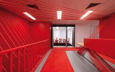 Una #oficina en rojo