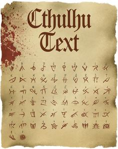 Cthulhu Text: TTF Font File - The Vaults of McTavish | DriveThruRPG.com