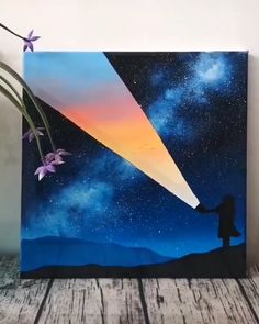 Simple Canvas Paintings, Easy Canvas Art, Small Canvas Art, Disney Canvas Art, Canvas Ideas, Easy Paintings, Art Drawings Sketches Simple, Beautiful Sketches, Canvas Painting Tutorials