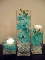 Flowers, Reception, Centerpiece, Ceremony, Wedding, Blue, Inspiration, Board, Bridal, Teal, Turquoise, Silk, Savannah event decor