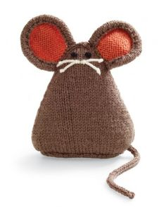 Basic knitting skills are all you need to create this 9-inch mouse. It's part of a collection of knitted and crocheted creatures called amigurumi, after the Japanese art of crocheting small animals.