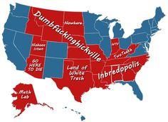 Red states, Blue states.