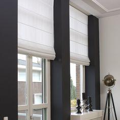 Vouwgordijn lichtdoorlatend op maat sfeerimpressie - inspiratiefoto raamdecoratie.com