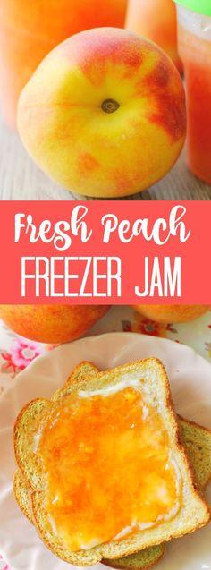 How to make fresh peach freezer jam. Fresh Peach Freezer Jam How to make fresh peach freezer jam. Peach Freezer Jam, Freezer Jam Recipes, Jelly Recipes, Freezer Cooking, Canning Recipes, Fruit Recipes, Nutella Recipes, Dip Recipes, Gastronomia