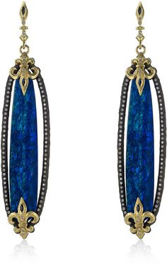 Armenta Boulder Opal Drop Earrings in Blue
