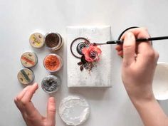 Elena Morgun - mixed media notebook cover tutorial for Finnabair CT - YouTube
