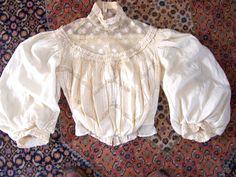 Antique 1890's Victorian Wedding dress Bodice or vintage blouse